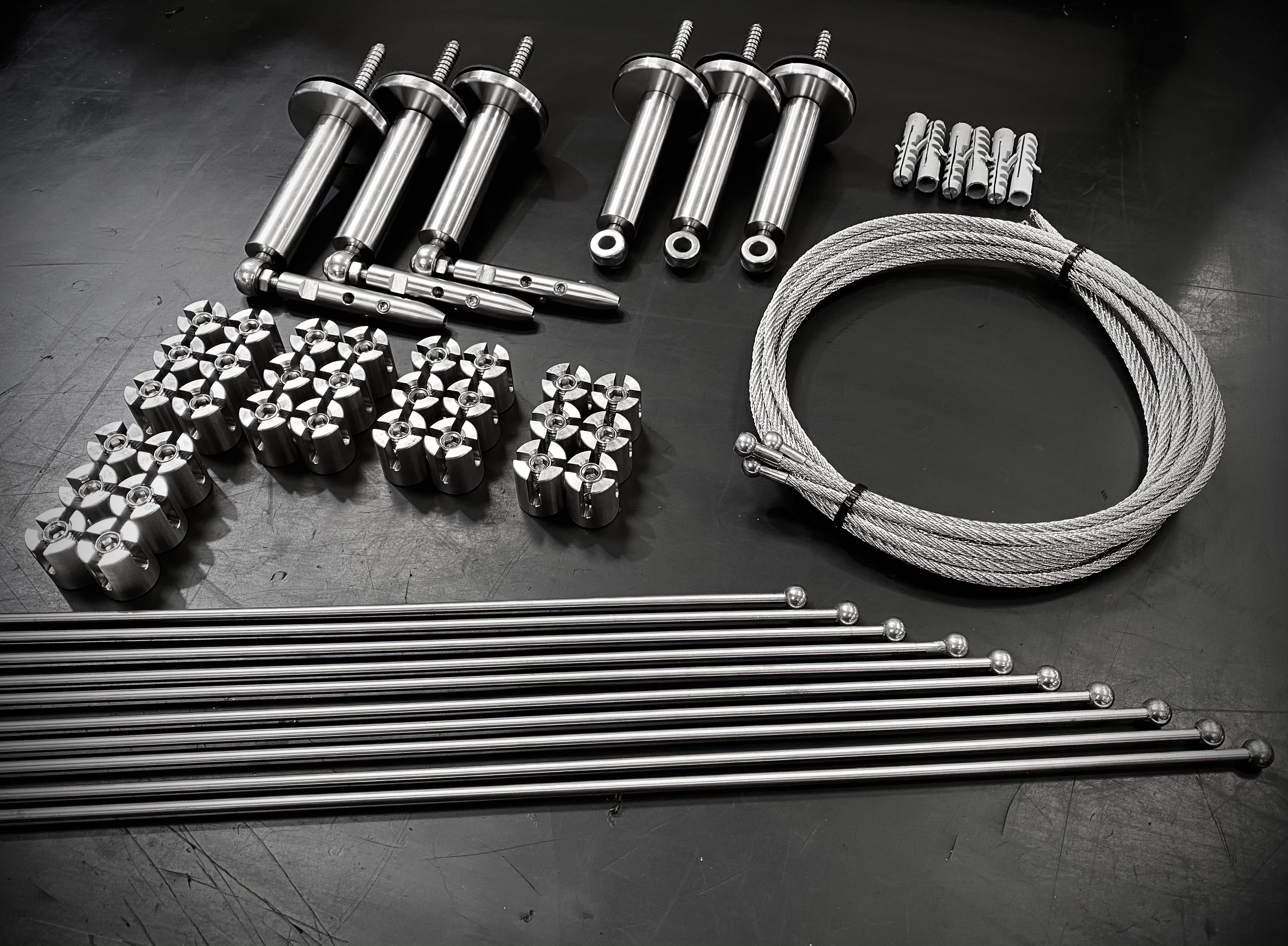 Stainless steel MAX rod trelis components