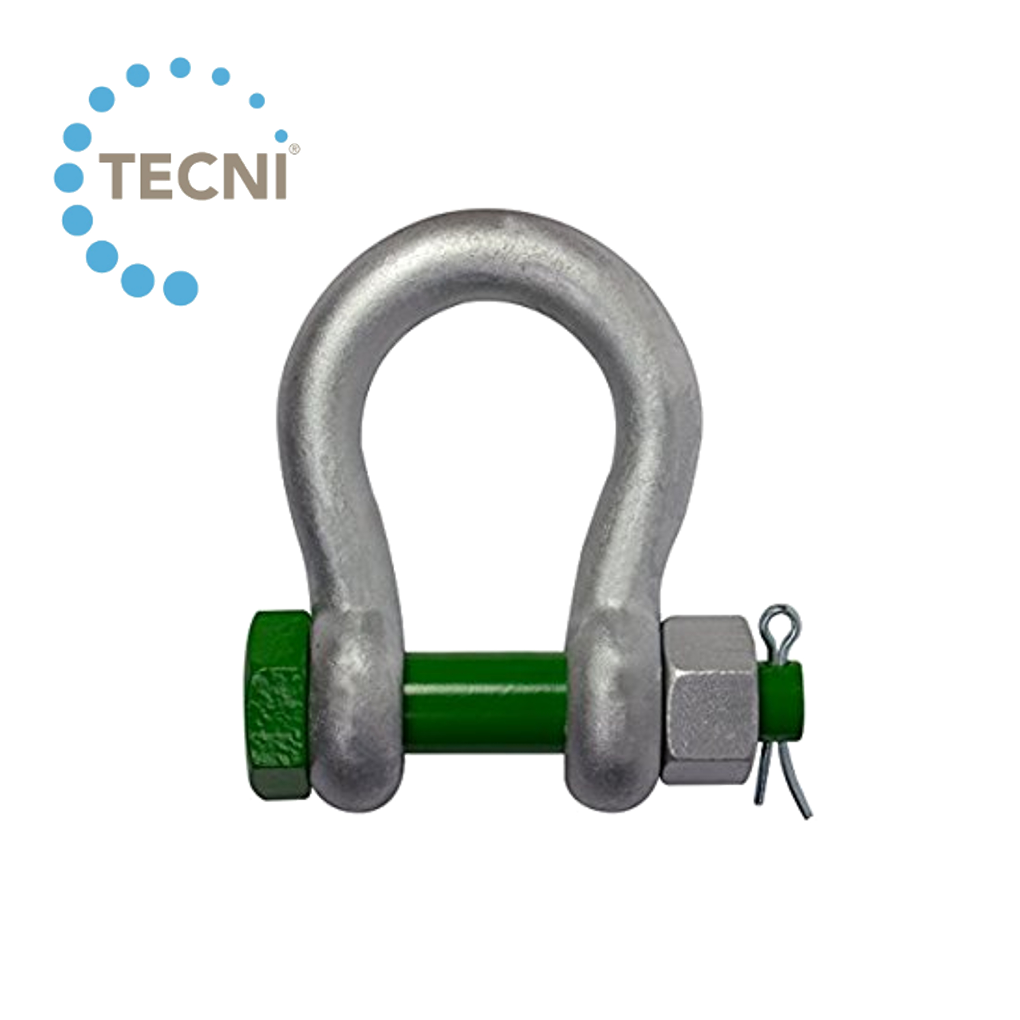 Galvanised Bow Shackle with Safety Bolt 1000kgs
