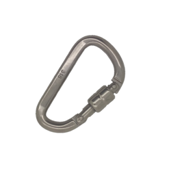 8mm x 64mm Stainless Steel Karabiner Hook with Spring Locking Collar