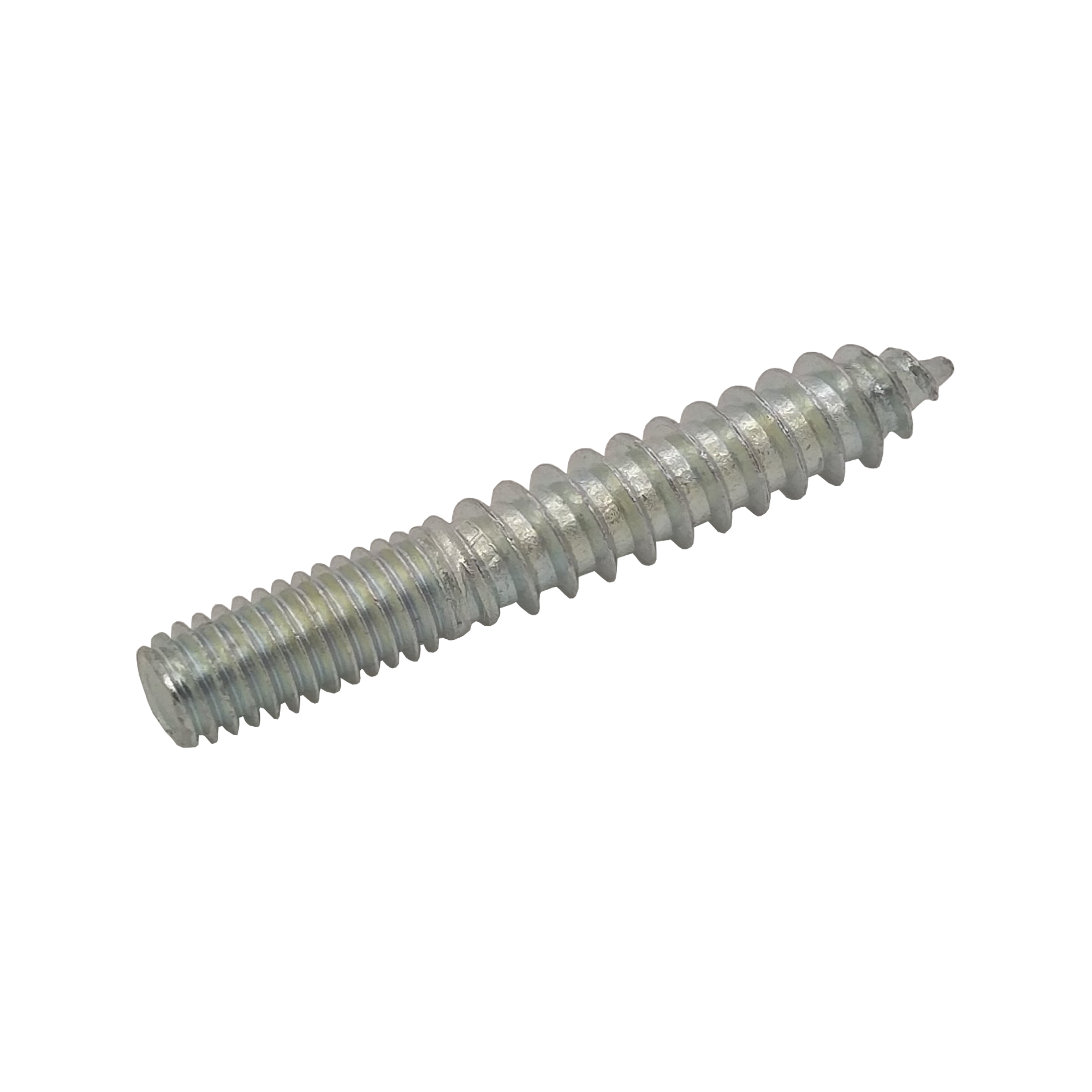 M6 BZP Dual Thread Screw 25mm Wood to 15mm Metal