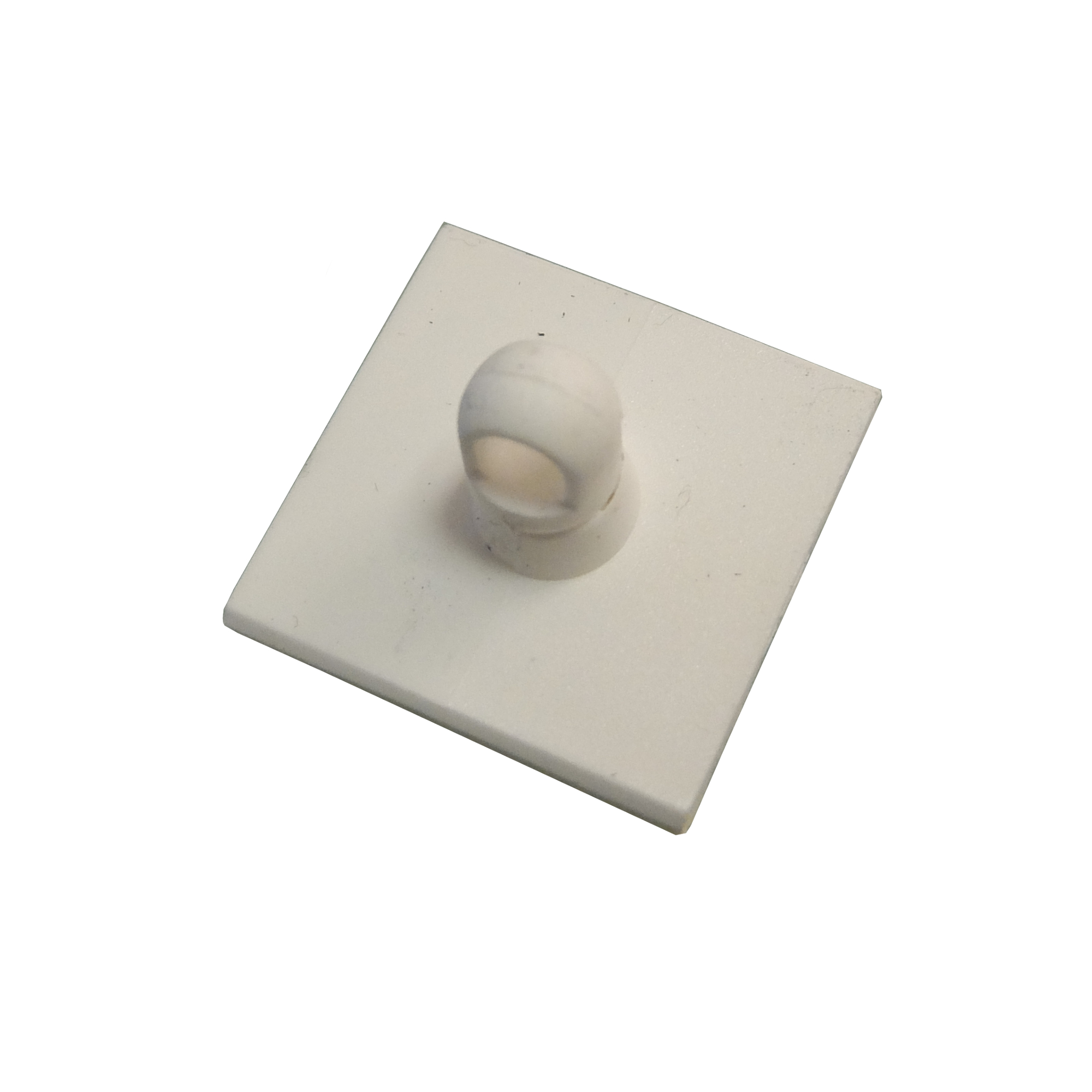 White ABS Ceiling Plate with Swivel Eye and Adhesive Pad