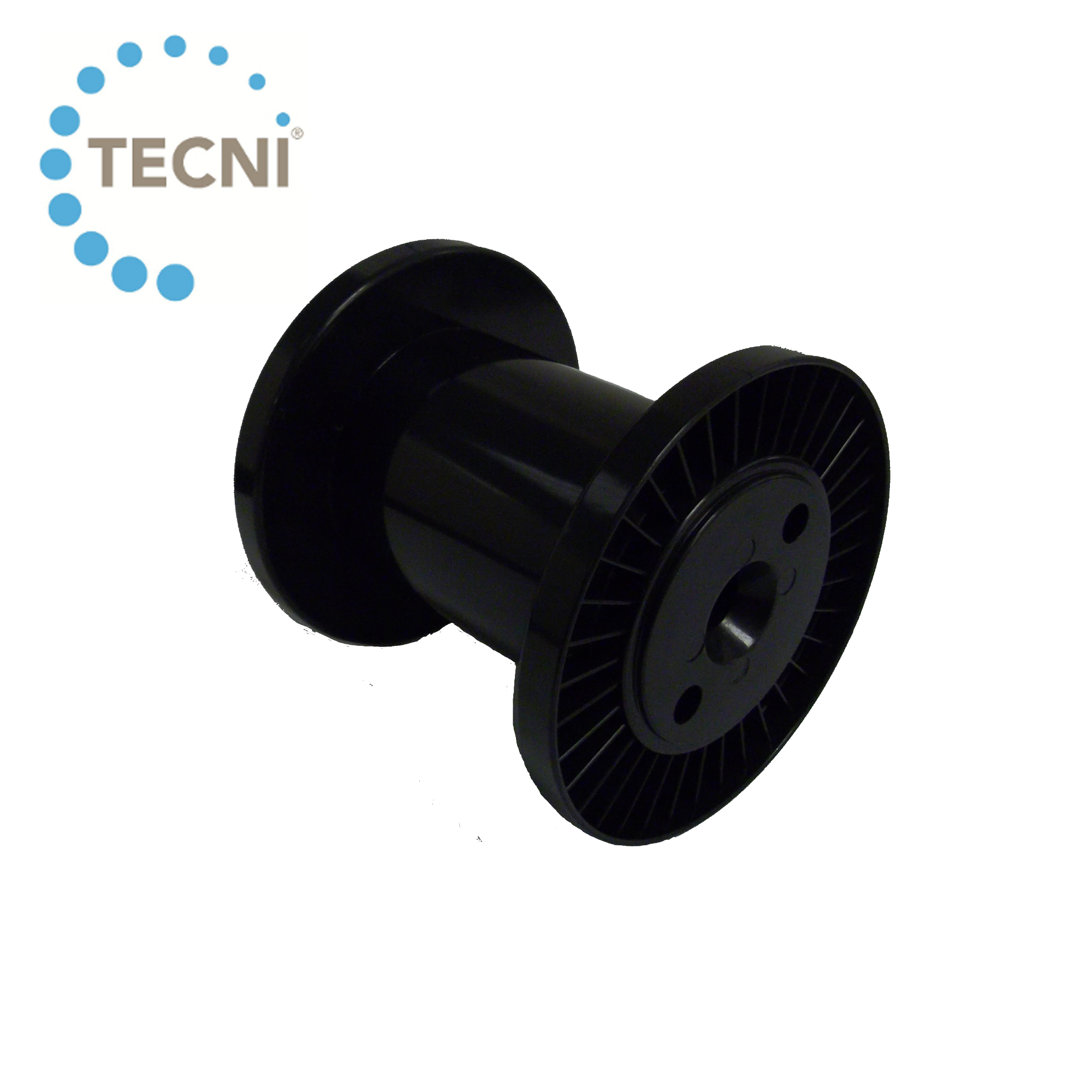 Plastic cable drum for steel wire