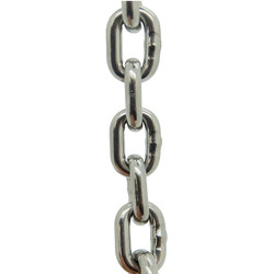 6mm x 18.5mm x 20mm Stainless Steel Chain 1600kgs MBL