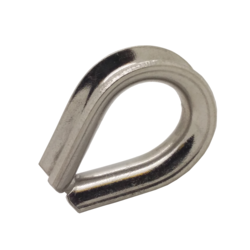 3mm A4-AISI 316 Stainless Steel Wire Rope Thimble Heavy Gauge