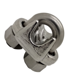 "6-7mm (1/4"") US type Stainless Steel Wire Rope Clip/Grip to BS EN 13411-5"