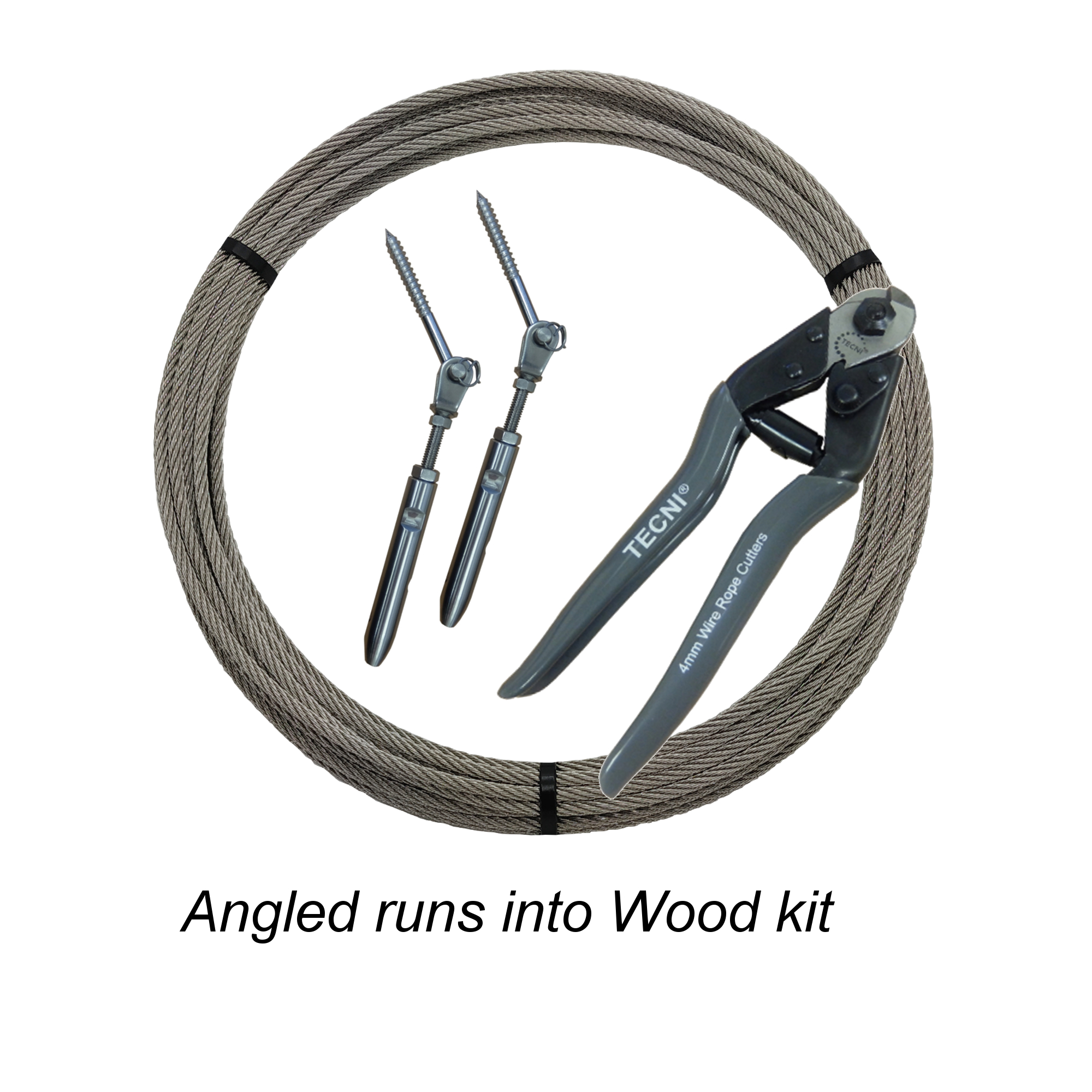 Angled Cable Runs into Wood Kit