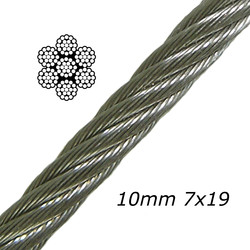 10mm Galvanised Steel Cable 7x19
