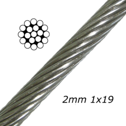 2mm Stainless Steel Cable 7x19