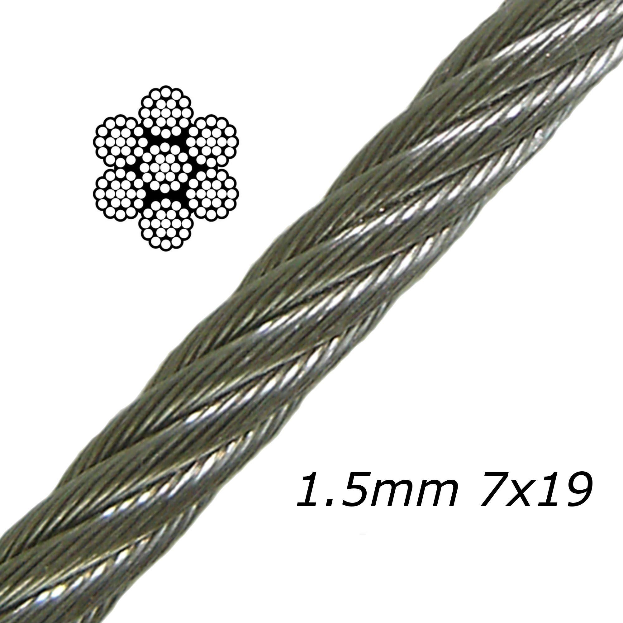 1.5mm Stainless Steel Cable 7x19