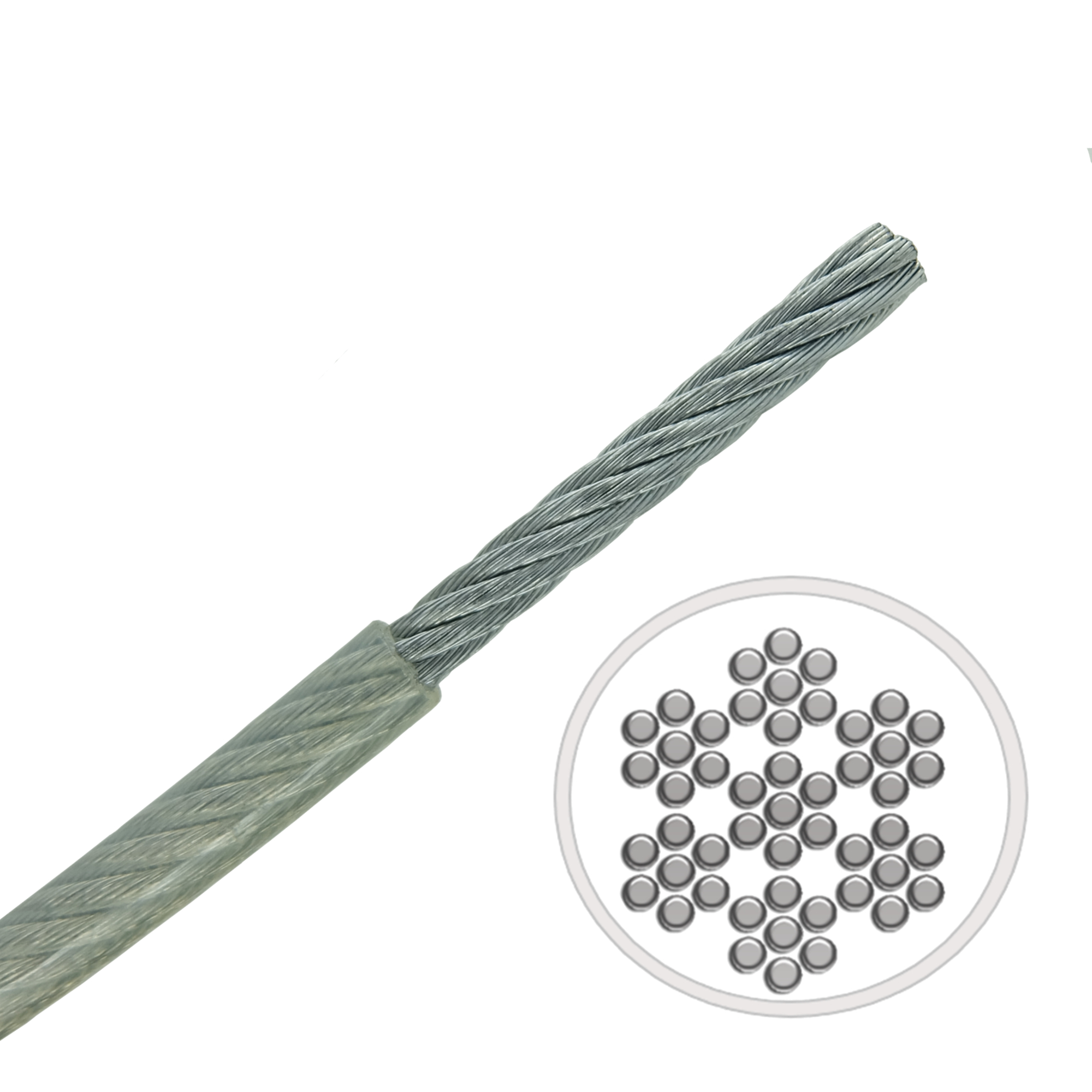 0 9mm 7x7 A4 Aisi 316 Stainless Steel Cable Mbl 52kgs