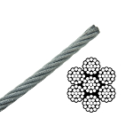 Stainless steel and galvanised wire rope