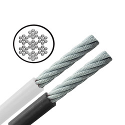 Galvanised PVC Coated Cable - Flexible - 7x7