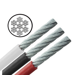 Stainless Steel PVC Coated Cable - Flexible - 7x7
