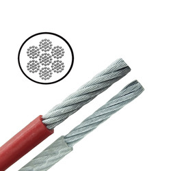 Galvanised PVC Coated Cable - Very Flexible - 7x19