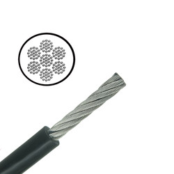 Stainless Steel PVC Coated Cable - Very Flexible - 7x19