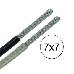 Stainless Steel Nylon Coated Cable - Flexible - 7x7