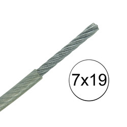 Stainless Steel Nylon Coated Cable - Very Flexible - 7x19