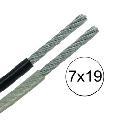 Galvanised Nylon Coated Cable - Very Flexible - 7x19
