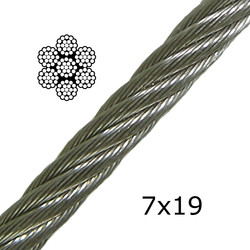 Stainless Steel Cable 7x19 (Very Flexible)