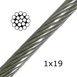 Stainless Steel Cable 1x19 (Non Flexible)