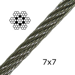 Stainless Steel Cable 7x7 (Flexible)