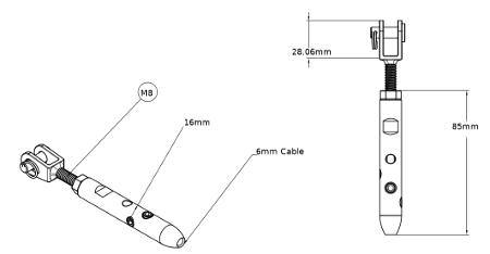 m8 guardrail kit dimensions