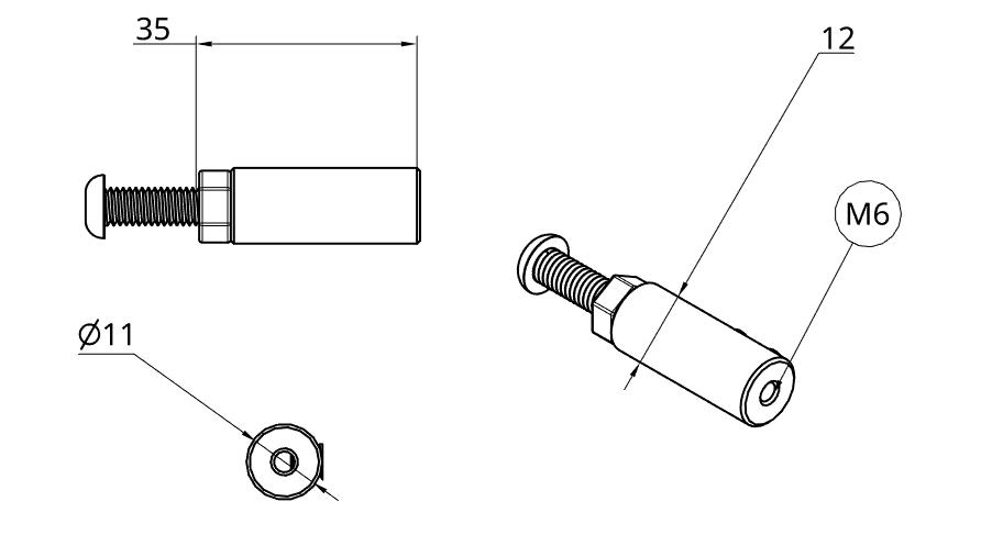 M6 Standard Trellis Tension Fitting