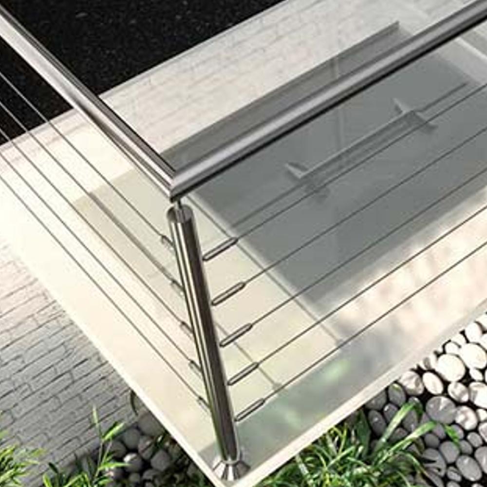 TECNI Vertical Balustrade into Wood and Metal