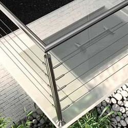 TECNI® TENSOR Balustrade Straight Runs into Metal