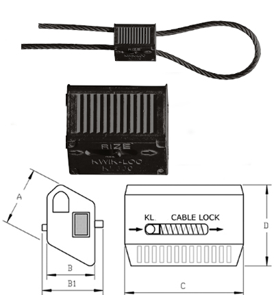 Kwik-Loc Cable Grip KL100 for 1.5-2.3mm Cable Dimensions